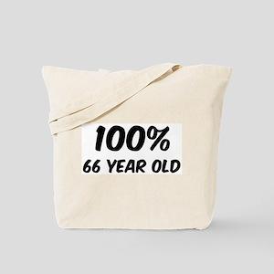 100 Percent 66 Year Old Tote Bag