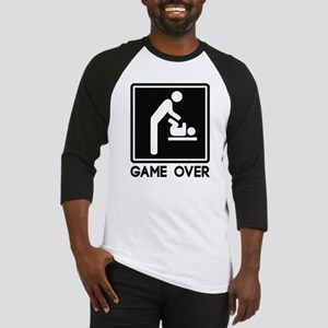 Game Over New Baby for Parent Dad Baseball Jersey