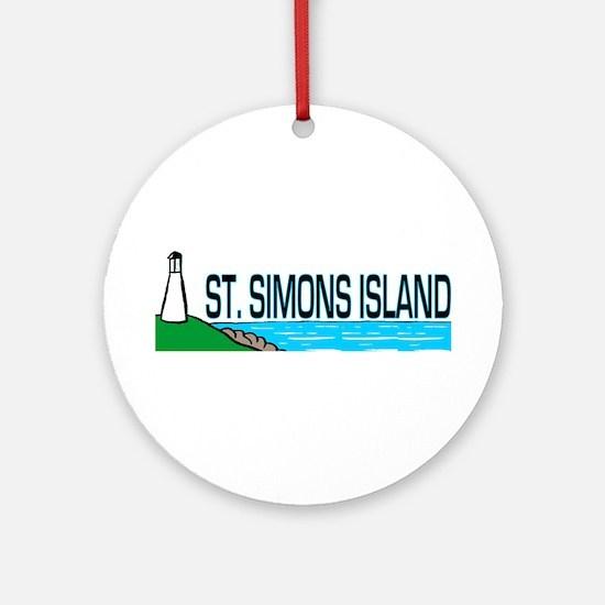 St. Simons Island Ornament (Round)