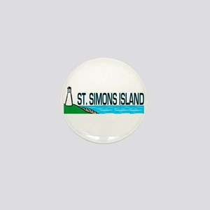 St. Simons Island Mini Button