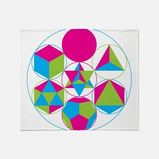 Unique Sacred geometry Throw Blanket