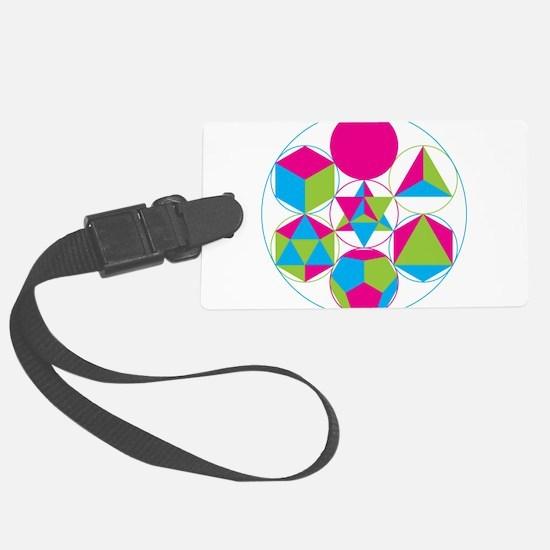 Cute Sacred geometry Luggage Tag