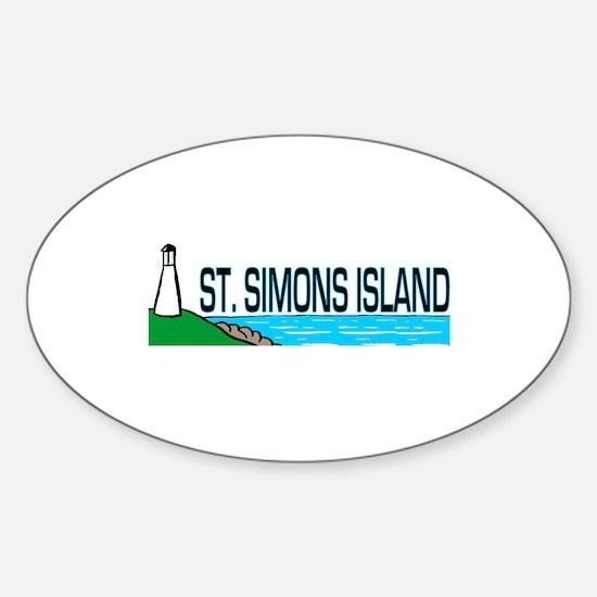 St. Simons Island Oval Decal