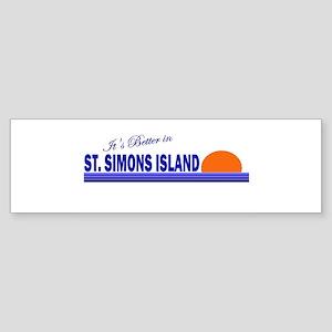 Its Better in St. Simons Isla Bumper Sticker