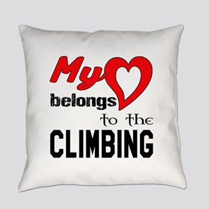 My Heart belongs to the Climbing Everyday Pillow
