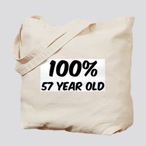 100 Percent 57 Year Old Tote Bag