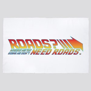 we don't need roads 4' x 6' Rug