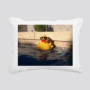 Hollywood Rubber Duckie Rectangular Canvas Pillow