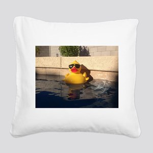 Hollywood Rubber Duckie Square Canvas Pillow