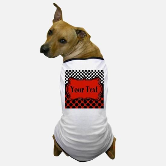Red Black Polka Dot Personalizable Dog T-Shirt