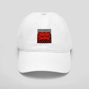 Red Black Polka Dot Personalizable Baseball Cap