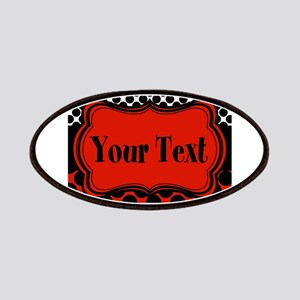 Red Black Polka Dot Personalizable Patches