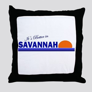 Its Better in Savannah, Georg Throw Pillow