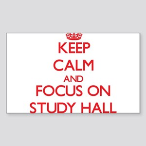 Keep Calm and focus on Study Hall Sticker