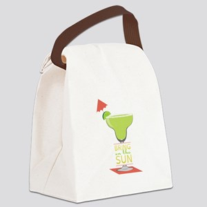 Bring On The Sun Canvas Lunch Bag