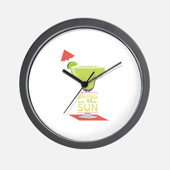 Bring On The Sun Wall Clock