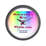Artists Do It In Color Wall Clock