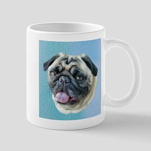 Painted Pug Dog Mugs