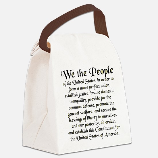 We the People US Canvas Lunch Bag