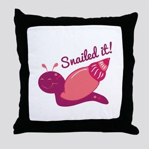 Snailed It! Throw Pillow
