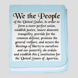 We the People US baby blanket
