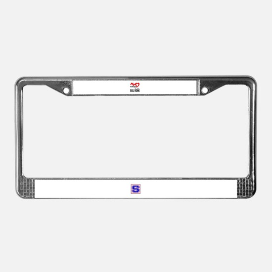 My Heart belongs to the Bull R License Plate Frame