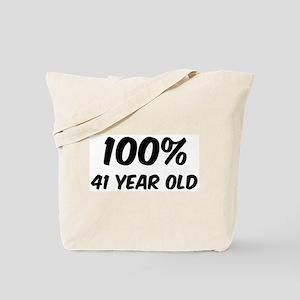 100 Percent 41 Year Old Tote Bag