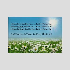 Faith Walks Out Magnets