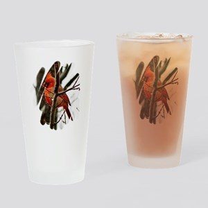 Cardinal Christmas Drinking Glass