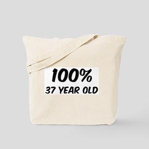 100 Percent 37 Year Old Tote Bag