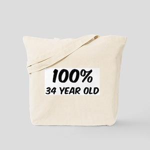 100 Percent 34 Year Old Tote Bag