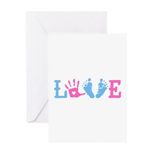baby feet greeting cards cafepress