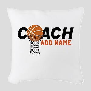Best Coach ever Woven Throw Pillow