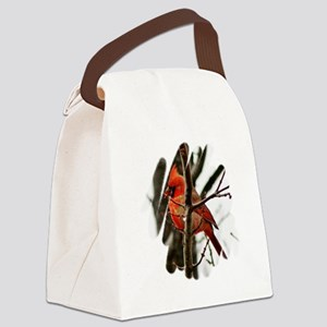 Cardinal Christmas Canvas Lunch Bag