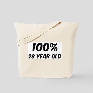 100 Percent 28 Year Old Tote Bag