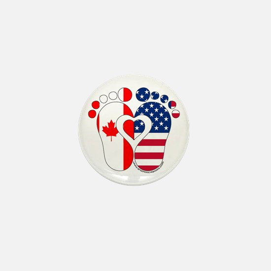 Canadian American Baby Mini Button