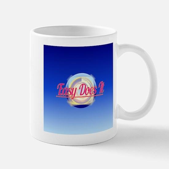 EASY DOES IT logo style Mugs