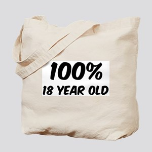 100 Percent 18 Year Old Tote Bag