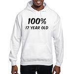 100 Percent 17 Year Old Hooded Sweatshirt