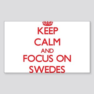 Keep Calm and focus on Swedes Sticker