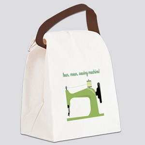 Lean, Mean Sewing Machine! Canvas Lunch Bag