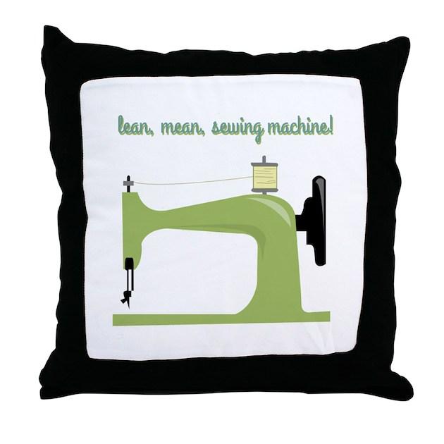 Lean Mean Sewing Machine Throw Pillow By Windmill40 Simple Lean Mean Sewing Machine