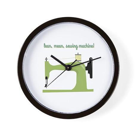 Lean, Mean Sewing Machine! Wall Clock