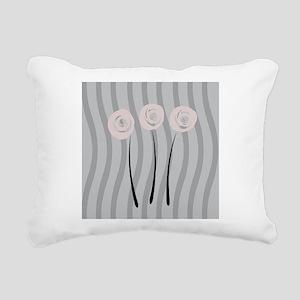 Blush Watercolor Roses Rectangular Canvas Pillow
