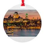 Quebec City Round Ornament