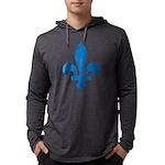 FleurLysQc1 Mens Hooded Shirt