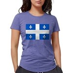 DrapeauQc1PMS293 Womens Tri-blend T-Shirt