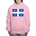 DrapeauQc1PMS293 Women's Hooded Sweatshirt