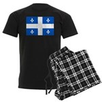 DrapeauQc1PMS293 Men's Dark Pajamas