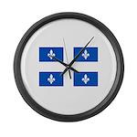 DrapeauQc1PMS293 Large Wall Clock